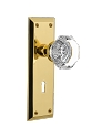 Nostalgic Warehouse New York Plate with Waldorf Knob - Mortise Lock