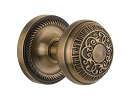 Nostalgic Warehouse Rope Rosette with Egg and Dart Knob - Mortise Lock