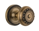 Nostalgic Warehouse Rope Rosette with Meadows Knob - Mortise Lock