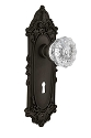 Nostalgic Warehouse Victorian Plate with Crystal Knob