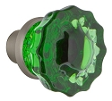 Nostalgic Warehouse Emerald Crystal Knobs ONLY with Spindle