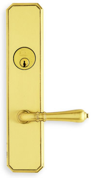 Omnia Max Steel Mortise Sideplate Lock Style 11752