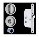 Omnia Stainless Steel Round Pocket Door Mortise Lock - 3910