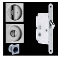 Omnia Stainless Steel Square Pocket Door Mortise Lock - 3911