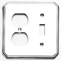 Omnia Traditional Double Switch/Single Outlet Plate