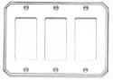 Omnia Traditional Triple Rocker Plate