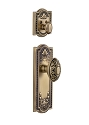 Grandeur Parthenon Handleset with Grande Victorian Knob - (Interior Half Only, with Deadbolt)