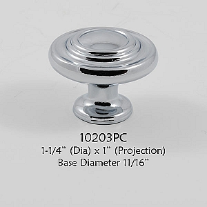 Residential Essentials 10203 Cabinet Knob in Polished Chrome