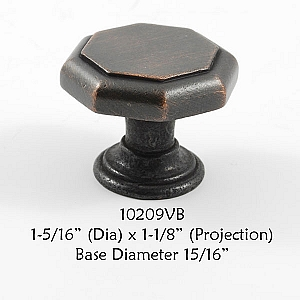 Residential Essentials 10209 Cabinet Knob in Venetian Bronze