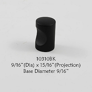 Residential Essentials 10310 Cabinet Knob in Black