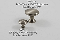 Residential Essentials 10293 Cabinet Knob in Satin Nickel