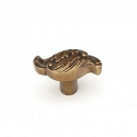 Schaub Cantata 2 inch Solid Brass Knob Pull in Dark Italian Antique