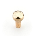 Schaub Cast Bronze Mountain 1 1/4 inch Round Knob in Natural Bronze