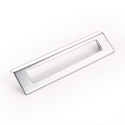 Schaub Finestrino 160mm CC Angled Rectangle Cabinet Pull in Matte Chrome