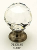 Schaub Clear Round Crystal Knob 70-CS-15