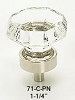 Schaub Clear Octagonal Knob Polished Nickel 71-C-PN