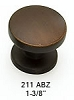Schaub Antique Bronze Knob 211-ABZ