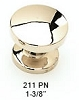 Schaub Polished Nickel Knob 211-PN