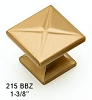 Schaub Brushed Bronze Knob 215-BBZ