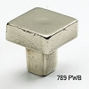 Schaub Polished White Bronze Square Knob 789-PWB