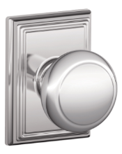 Schlage Andover Knob with Addison Rosette
