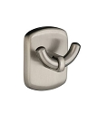 Smedbo Cabin Double Towel Hook - Brushed Nickel