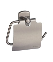 Smedbo Cabin Toilet Roll Holder With Lid - Brushed Nickel