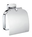 Smedbo Ice Toilet Roll Holder with Cover- Polished Chrome