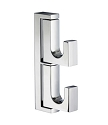 Smedbo Life Collection Swing Arm Double Hook - Polished Chrome