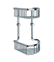 Smedbo Loft Collection Corner Two Level Soap Basket - Polished Chrome