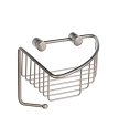 Smedbo Sideline Collection Basic Corner Soap Basket - Brushed Nickel