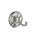 Smedbo Villa Collection Double Bath Towel Hook - Brushed Nickel