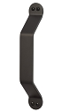 Sure-Loc Craftsman Barn Door Handle - Flat Black