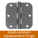 Sure-Loc Pair of 3 1/2 Inch Door Hinge with 5/8 Inch Radius Corner