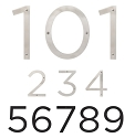 Sure-loc 6 Inch Stainless Steel House Numbers