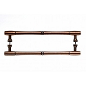 Top Knobs 12 Inch CC Nouveau Bamboo Back to Back Door Pull - Old English Copper