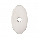 Top Knobs Sanctuary I Oval Backplate Small 1 1/4 Inch - Brushed Satin Nickel