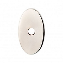 Top Knobs Sanctuary I Oval Backplate Small 1 1/4 Inch - Polished Nickel