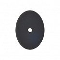 Top Knobs Sanctuary I Oval Backplate Large 1 3/4 Inch - Flat Black