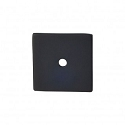 Top Knobs Sanctuary I Square Backplate 1 1/4 Inch - Flat Black
