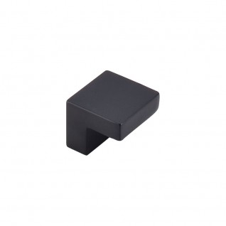 Top Knobs Nouveau III 1 Inch Square Cabinet Knob - Flat Black