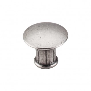 Top Knobs Edwardian 1 1/4 Inch  Cabinet Knob - Antique Pewter