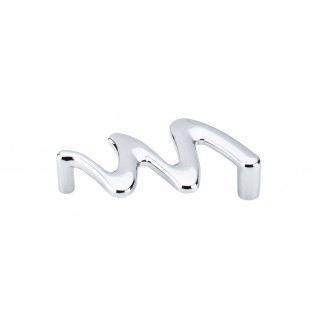 Top Knobs Nouveau II Cabinet Pull 3 3/4 Inch CC - Polished Chrome