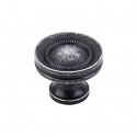 Top Knobs Somerset Button Faced 1 1/4 Inch Cabinet Knob - Black Iron