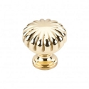 Top Knobs Somerset Melon Cut 1 1/4 Inch Cabinet Knob - Polished Brass