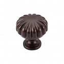 Top Knobs Somerset Melon Cut 1 1/4 Inch Cabinet Knob - Rust