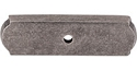 Top Knobs Aspen Collection Rectangle Backplate - Silicone Bronze Light