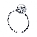Top Knobs ED5PCA Edwardian Beaded Towel Ring - Polished Chrome