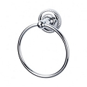 Top Knobs ED5PCF Edwardian Rope Towel Ring - Polished Chrome