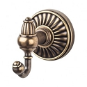 Top Knobs TUSC2GBZ Tuscany Double Towel or Robe Hook - German Bronze